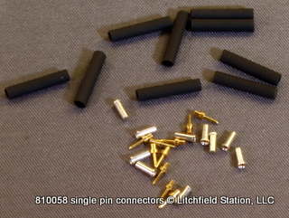 Connector set 1-pin - male & female TEN PACK 810058