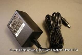 Power Supply 15 volt DC 1 amp 2.1 mm plug PS115
