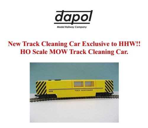OO/HO Gauge Dapol Motorized Track Cleaner - #DAPB808
