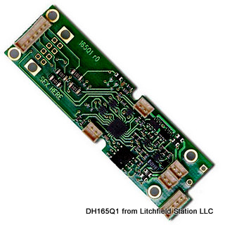 HO DCC decoder to replace QSI sound board by Digitrax DH165Q1