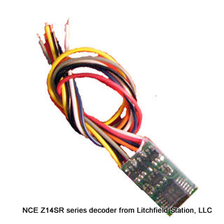 Z DCC decoder basic by NCE Z14-SR - 3 inch wire leads