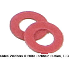Fiber Washer by Kadee - Red 0.015 inch thick - 208
