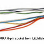 NMRA 8-pin (NEM652) socket - female with wires attached