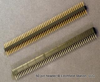 Header 50 pin inline - Female 50 pin 575-501101