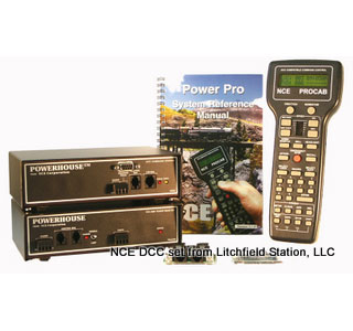 DCC system by NCE Power Pro or Powerhouse Pro