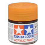 Tamiya Acrylic X-26 Clear Orange paint - 23ml Bottle