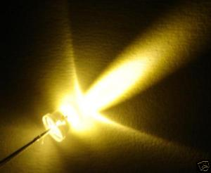 LED 3mm 12 Volt Warm White w/ Water Clear Lens - 10 Pack - #LED-3WW-12V-10