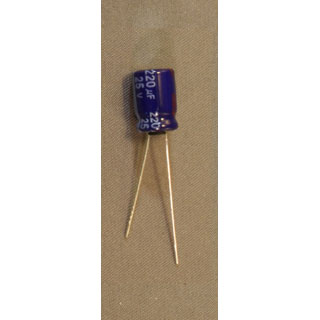 Energy Storage Capacitors - 2200 uF 25 Volt Electrolytic .500Dia 1.0Hi