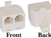 RJ cable splitter (1 M & 2 F) CabBus, LocoNet or XpressNet