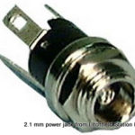 Connector power 2.1 mm coaxial jack