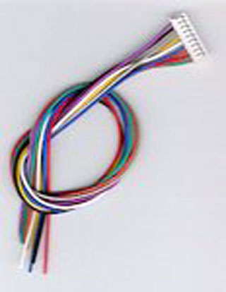 JST 9-pin Wire Harness by Digitrax - Five Pack