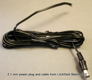 Plug2.5mm Power Cord-Blunt - #Plug2.5mmCord