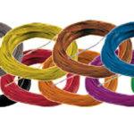 Super thin cable, 0.5mm diameter, AWG36 - Orange