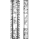 Track HO laying guide by Ribbonrail - HOn3 gauge 16 inch radius
