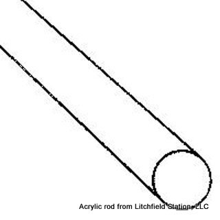 Acrylic Rod - solid round clear
