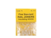 Code 75 Peco Rail Joiners - Nylon Insulated - 12 PACK