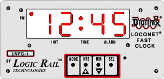 Fast Clock Display for Digitrax LocoNet - Large (2.3 inch) Repeater