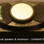 Speaker enclosure for 14 x 24 mm Mini-Oval dream speaker