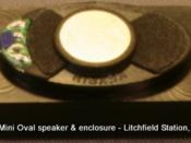 Speaker enclosure for 14 x 24 mm Mini-Oval dream speaker