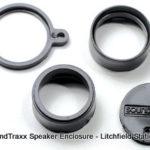 Speaker enclosure for 10 mm round speaker
