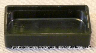 Speaker enclosure for 16 x 35 mm rectangular speaker