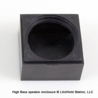 Speaker enclosure for 27 mm round HIGH BASS Speaker - #SPENC-27H16S