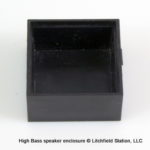 Speaker enclosure for 28 mm square HIGH BASS Speaker - #SPENC-28SHB