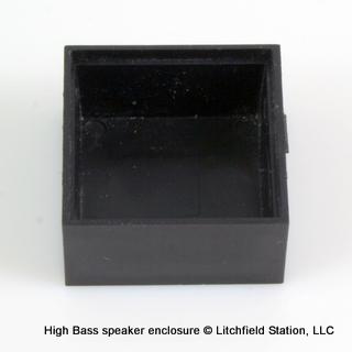 Speaker enclosure for 28 mm square HIGH BASS Speaker - #SPENC-28SHB