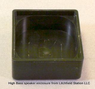 Speaker enclosure for 23 mm square HIGH BASS Speaker - #SPENC-23H12.5S