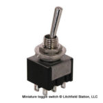 Switch DPDT Center ON-OFF-ON Mini Toggle - #SW-Min-SPDT-On-Off