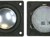 Speaker 28 mm square HIGH BASS 8 ohms With Enclosure
