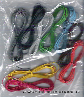 Wire 30 AWG Kit - 10 feet of each of the 9 basic DCC colors
