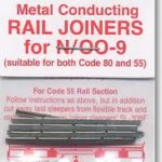 Peco Universal Code 55/80 Nickel Silver Rail Joiners - Nickel Insulated 24 Pack