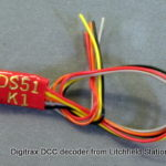 Fixed DCC decoder single Kato snap motor by Digitrax DS51K1