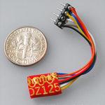 Z DCC decoder basic by Digitrax DZ123 series - NMRA 8-pin NEM 652 3 inch harness - DZ123PS
