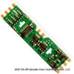 HO DCC decoder LocoSpecific Atlas light board by NCE DA-SR - 4 Pack