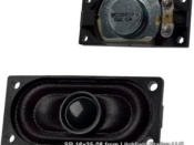 16 x 35 mm rectangular 8 Ohms, 1 Watt Speaker - #SP-16x35-08