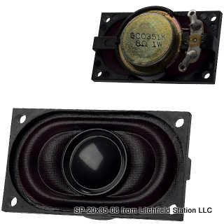 Speaker 20 x 35 mm rectangular 8 Ohms