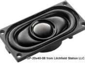 Speaker 20 x 40 mm rectangular 8 Ohms
