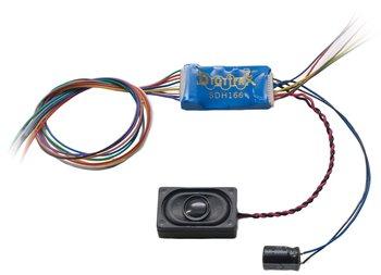 SDH166D 8 Bit Sound, Motor & Function Series 6 Decoder HO Scale