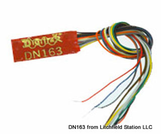 N DCC decoder premium by Digitrax DN163 series - None - Wire Leads