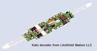 N DCC decoder LocoSpecific Kato by Digitrax - DN163K0a - P42, PA, E8/9