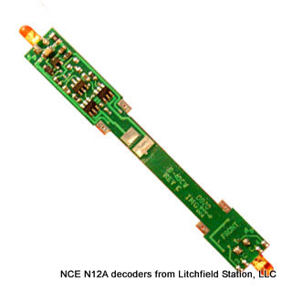 N DCC decoder LocoSpecific Atlas light board by NCE - Medium