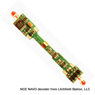 N DCC decoder LocoSpecific Atlas light board by NCE - NAVO