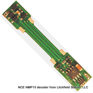 N DCC decoder LocoSpecific Atlas light board by NCE - Switcher MP15