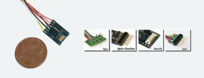 LokPilot micro V4.0 decoder - 6-pin NEM 651direct connection
