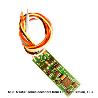 N DCC decoder premium by NCE N14 series - 8-pin connector