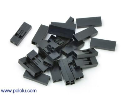 "0.1"" (2.54mm) Crimp Connector Housing: 1x2 Pin - #TVD-2PinCon"