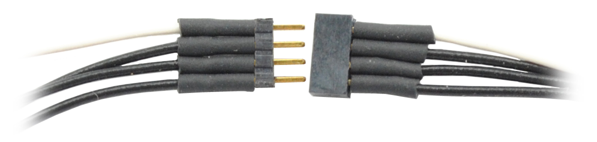 1491 4-Pin Micro Connector 6″ wires – #TCS-1491 – Litchfield Station