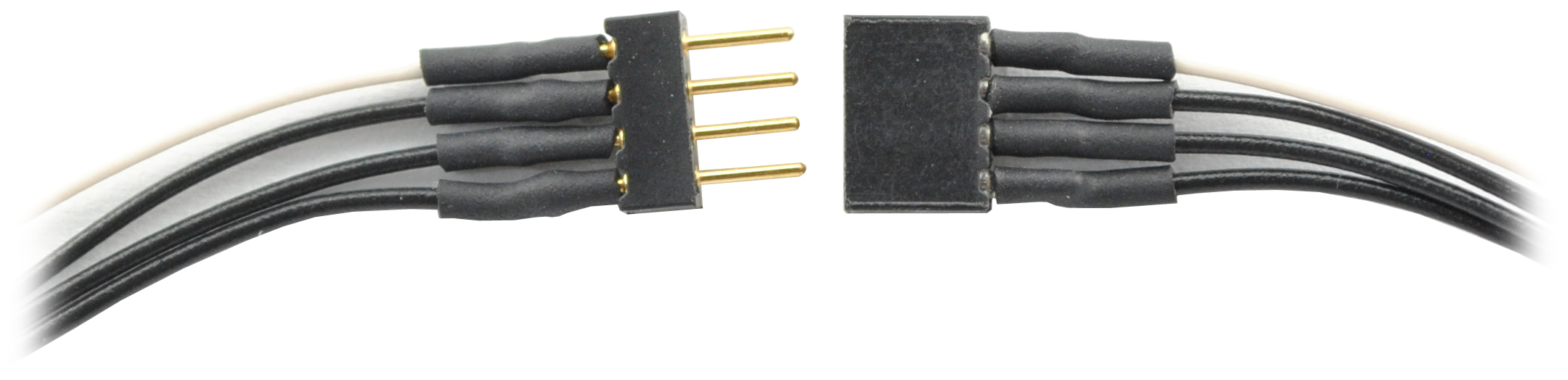 1492 4-Pin Mini Connector 6″ wires – #TCS-1492 – Litchfield Station